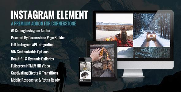 Instagram Element - Cornerstone Element for Wordpress