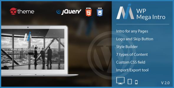 WP Mega Intro v2.0 - Amazing Intro Pages for WP