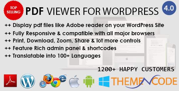 PDF viewer for WordPress v4.5