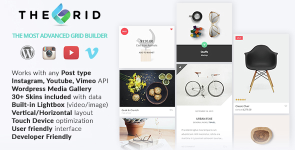 The Grid v1.5.0 - Responsive Wordpress Grid Builder