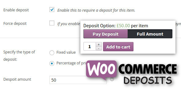 WooCommerce Deposits v1.5 - Partial Payments Plugin