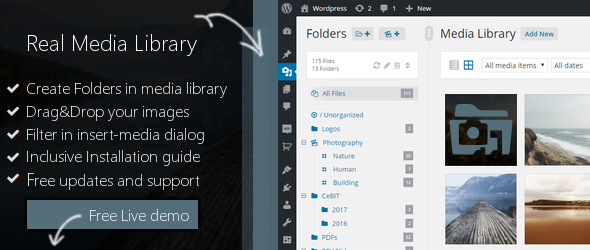 WP Real Media Library v2.2.2 - Media Categories / Folders