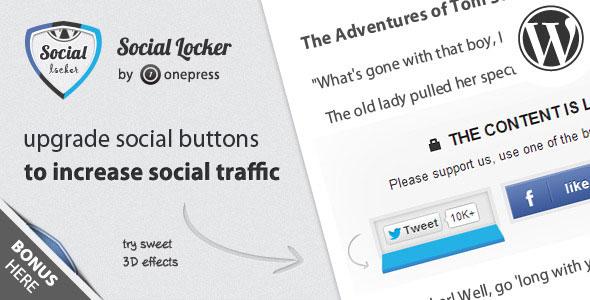 Social Locker for Wordpress v4.3.5