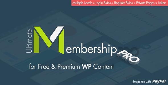Ultimate Membership Pro WordPress Plugin v3.1