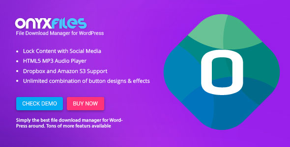 Onyx Files v2.0 - File Download Manager for WordPress