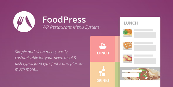 foodpress v1.4 - Restaurant Menu & Reservation Plugin