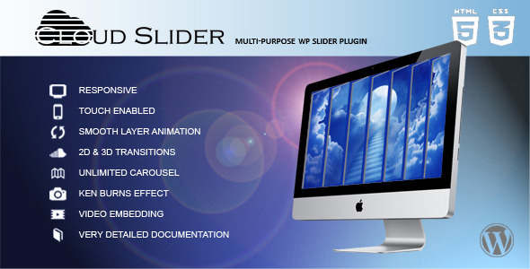 Cloud Slider v1.1.0 - Responsive Wordpress Slider