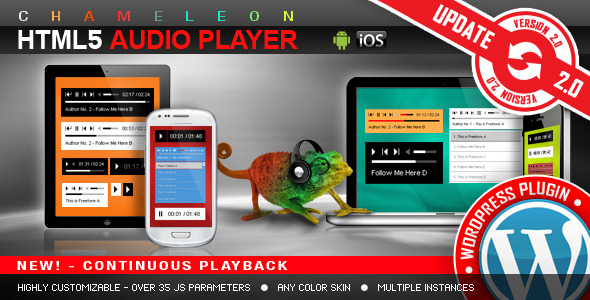 HTML5 Audio Player WordPress Plugin v2.9.1