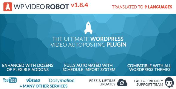 Wordpress Video Robot Plugin v1.8.4