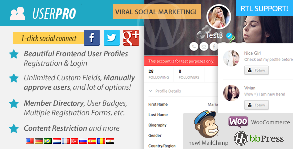 UserPro v3.7.1 - User Profiles with Social Login