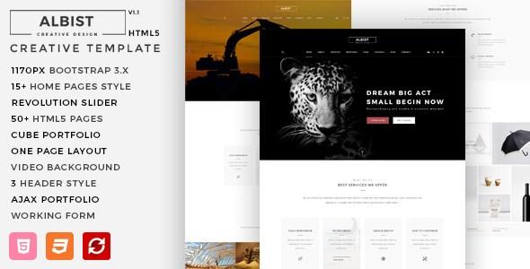 ALBIST v1.0 – Creative Multipurpose HTML5 & CSS3 Template