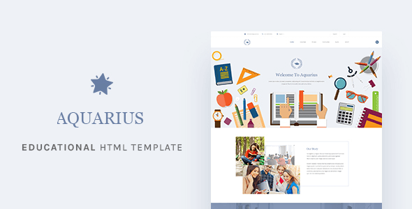 Aquarius v1.0 – Responsive Educational University HTML Template