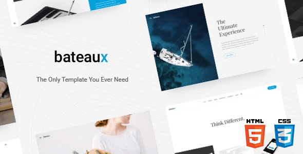 Bateaux v1.0 – Responsive Creative Multi-Purpose HTML Theme