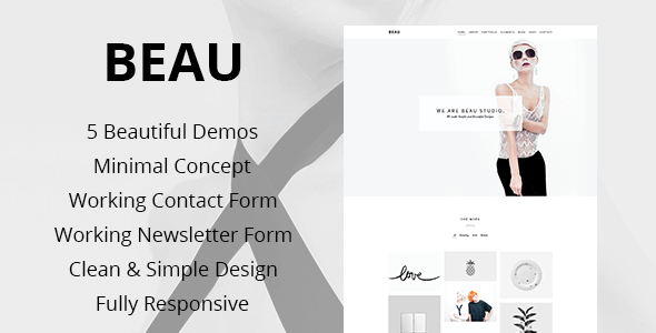 Beau v1.0 – Minimal Portfolio / Agency HTML5 Theme