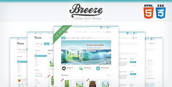 Breeze v1.0 – Responsive HTML5 & CSS3 Store Site Template