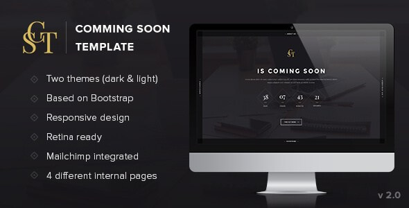 CST v1.1 – Under Construction Creative Coming Soon Template