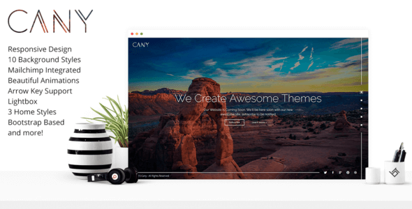 Cany v2.1.0 – Responsive Coming Soon HTML5 & CSS3 Template