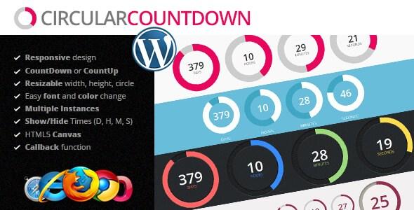 Circular Countdown v1.0 – Responsive jQuery Plugin