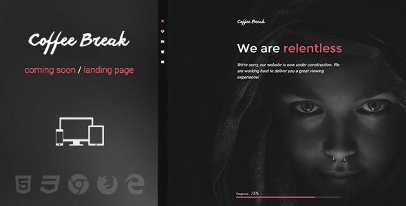 Coffee Break v2.0 – Multipurpose Fullscreen HTML5 Template