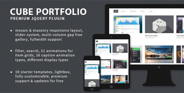 Cube Portfolio v4.0 – Responsive jQuery Grid Plugin