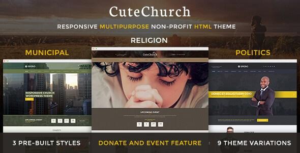 CuteChurch v4.0 – Religion Responsive HTML5 & CSS3 Theme