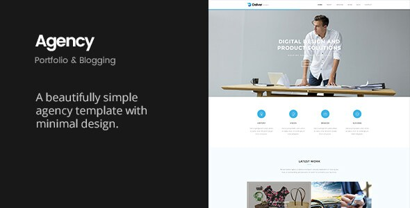 Deliver Agency v1.1 – Minimalist Portfolio & Blogging Template