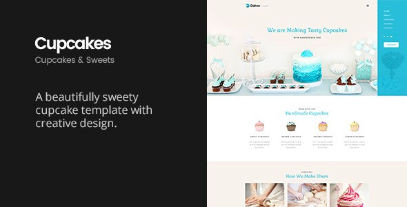 Deliver Cupcake v1.1 – Sweets & Cupcakes HTML5 Template