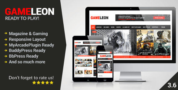 Download – Gameleon v3.2 WordPress Magazine & Arcade Theme