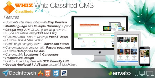 Download – WhizClassified v1.6 – Classifieds CM