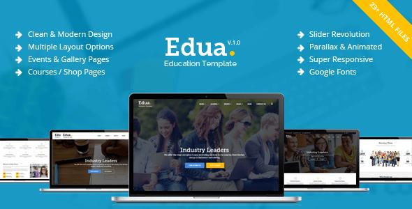 Edua v1.0 – Educational Responsive HTML5 Template