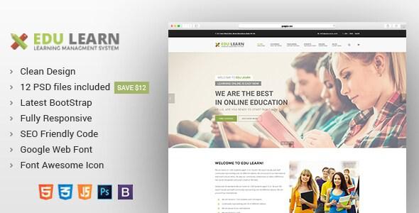 EduLearn v1.0 – Education, School & Courses HTML5 Template