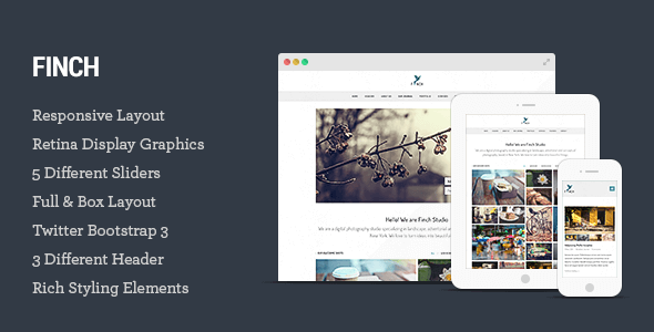 Finch v1.0.2 – Photography & Magazine HTML5 Template