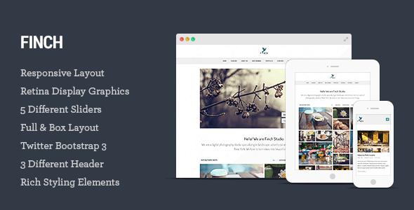 Finch v1.0.2 – Photography & Magazine HTML5 Template