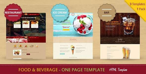 Download – Food & Beverages One Page HTML5 Template