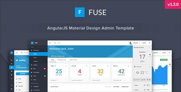 Fuse v1.3.0 – AngularJS Material Design Admin Template