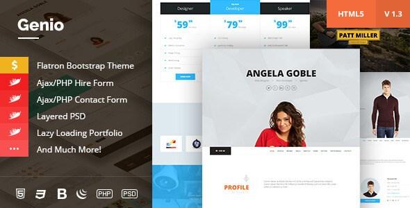 Genio v1.3 – OnePage Resume, Personal Portfolio HTML5 Template