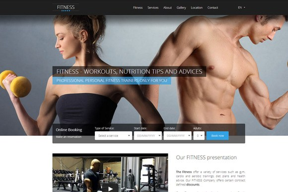HOTFIT – Hotel and Fitness HTML5/CSS3 Template