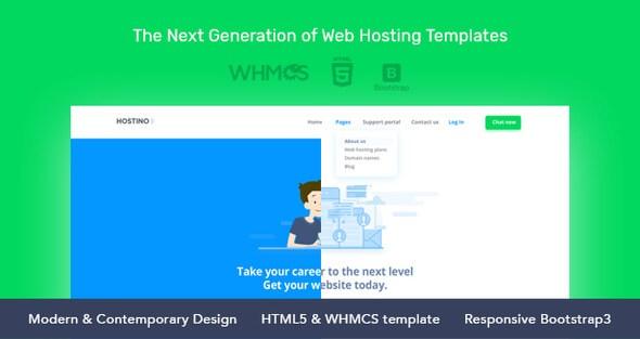 Hostino v1.0 – WHMCS Web Hosting HTML5 Template