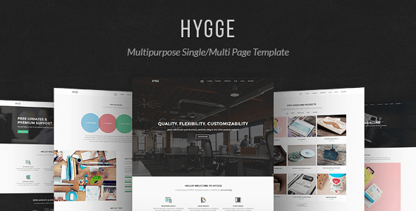Hygge v1.0.4 – Multipurpose Single/Multi Page HTML5 Template