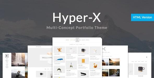 HyperX v1.0 – Portfolio for Freelancers & Agencies Site Template