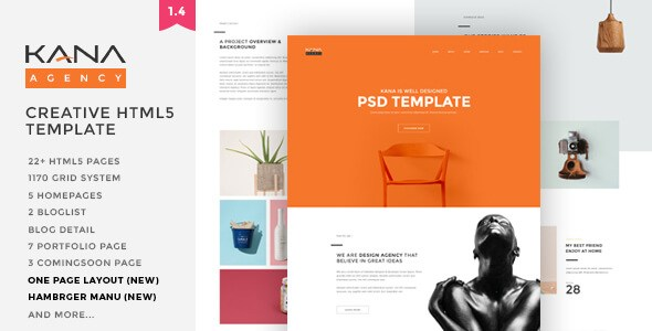Kana v1.5 – Responsive Creative Agency HTML5 Template