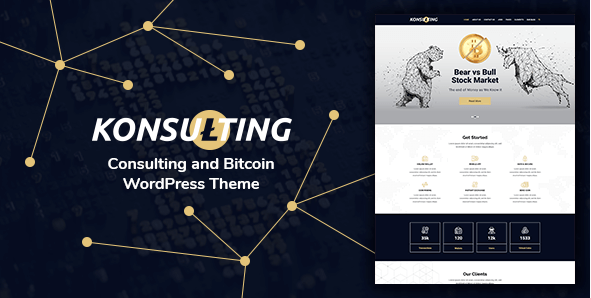Konsulting v1.1 – Responsive Consulting & Bitcoin WordPress Theme
