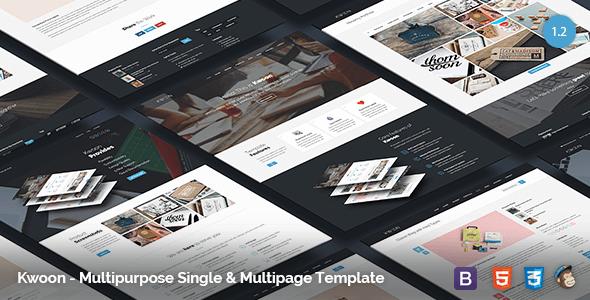 Kwoon v1.2.5 – Multipurpose Single/Multi-page HTML5 Template
