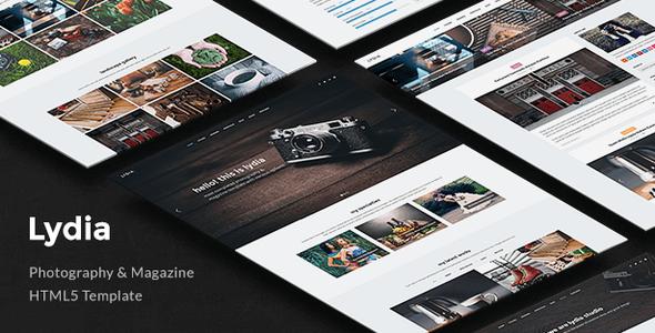 Lydia v1.4 – Responsive Photography & Magazine Site Template