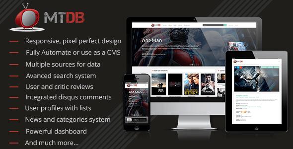 MTDb v2.9.3 – The Ultimate Movie & TV Database PHP Script