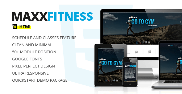 Maxx Fitness v3.0 – Responsive HTML5 & CSS3 Template
