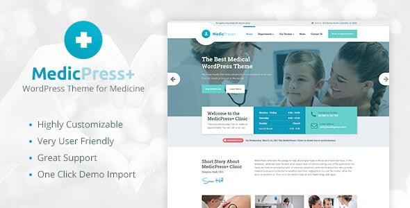 MedicPress v1.7.0 – Medical WordPress Theme for Clinics & Doctors