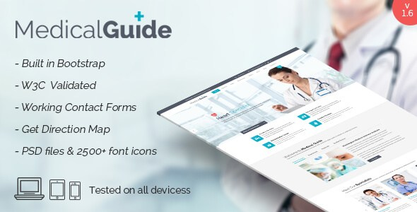 MedicalGuide v1.7 – Health and Medical HTML5 Template