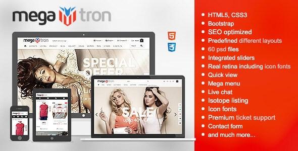 Megatron v1.0.4 – Responsive Shopping HTML5 & CSS3 Theme