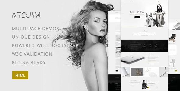 Milota – Modern Personal/Studio Portfolio HTML5 Template
